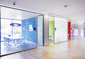 Microsoft Portuguese Headquarters Reversible Transparency Partitions